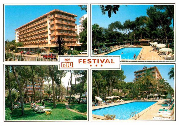 Ak Ansichtskarte Playa De Palma Mallorca Hotel Riu