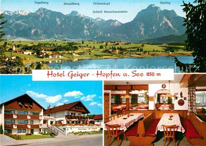 AK / Ansichtskarte Hopfen See Hotel Geiger Kat. Fuessen