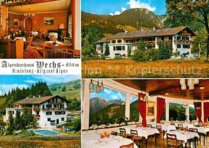 AK / Ansichtskarte Hindelang Alpenkurhaus Wechs Kat. Bad Hindelang