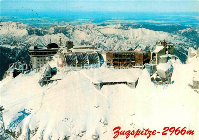 AK / Ansichtskarte Zugspitze Gipfelstation Zugspitzbahn Muenchner Haus Fernsicht Alpenpanorama Kat. Garmisch Partenkirchen