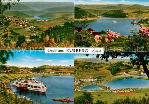 AK / Ansichtskarte Rurberg Landschaftspanorama Bootsanleger Ausflugsdampfer Kat. Simmerath