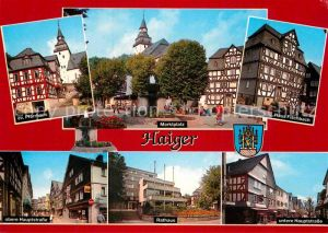 AK / Ansichtskarte Haiger Pfarrhaus Fachwerkhaus Marktplatz Haus Fischbach Hauptstrasse Rathaus Kat. Haiger
