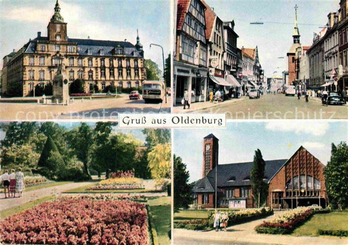 ak ansichtskarte oldenburg holstein stadtpark kirche rathaus teilansicht kat oldenburg in. Black Bedroom Furniture Sets. Home Design Ideas