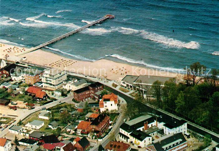 AK / Ansichtskarte Timmendorfer Strand Fliegeraufnahme mit Strand Kat. Timmendorfer Strand
