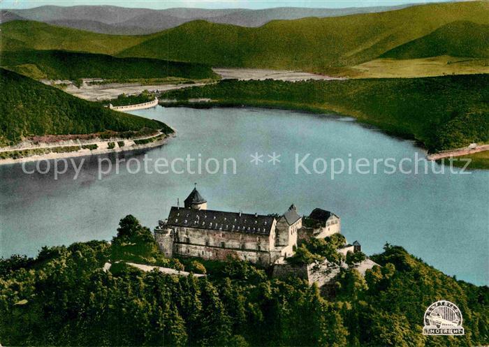 AK / Ansichtskarte Schloss Waldeck Fliegeraufnahme Schloss am Edersee Kat. Waldeck