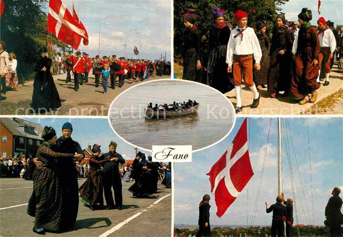 AK / Ansichtskarte Fanoe Volkstanz Aufmarsch Kat. Daenemark