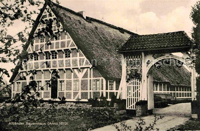 AK / Ansichtskarte Neuenfelde Hamburg Altlaender Bauernhaus anno 1619 Kat. Hamburg