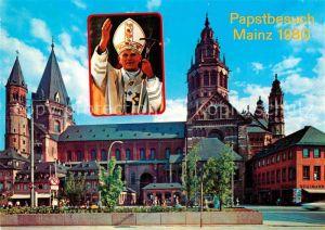 AK / Ansichtskarte Mainz Rhein Papstbesuch Mainzer Dom Sonderstempel