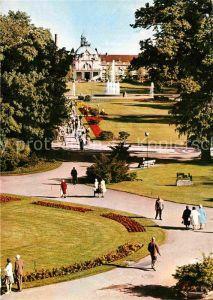 AK / Ansichtskarte Bad Oeynhausen Blick von der Wandelhalle Kurhaus Leuchtfontaene Kat. Bad Oeynhausen