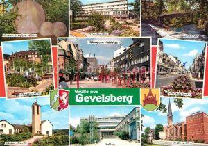 AK / Ansichtskarte Gevelsberg Seufzerallee Stadtgarten Kirche Fussgaengerzone Ennepe Mittelstrasse Rathaus Kat. Gevelsberg