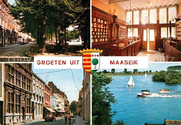 AK / Ansichtskarte Maaseik Markt Oudste Apotheek van Belgie Drossaardshuis Bosstraat Aldeneik Kat.