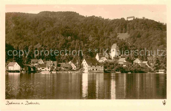 AK / Ansichtskarte Bodman Bodensee Ansicht vom See aus