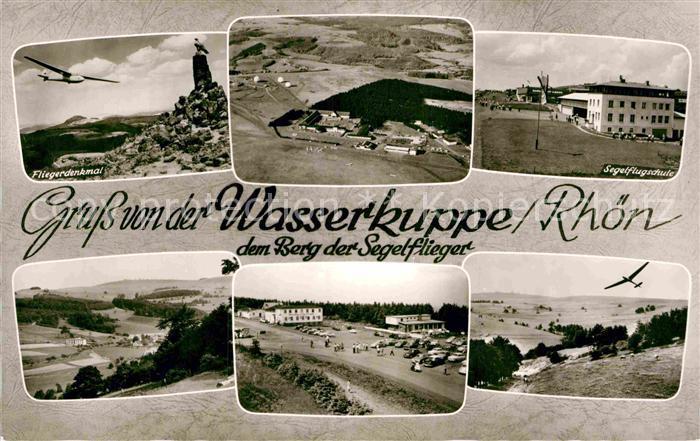 AK / Ansichtskarte Wasserkuppe Rhoen Berg der Segelflieger Fliegerdenkmal Flugschule Kat. Poppenhausen (Wasserkuppe)