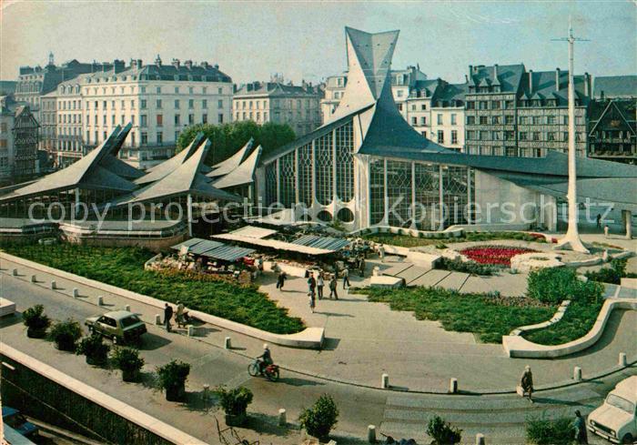 AK / Ansichtskarte Rouen Place du Vieux Marche et Eglise Sainte Jeanne d Arc Kat. Rouen