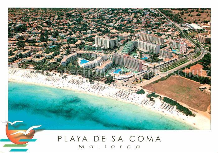 Mallorca Karte Sa Coma.Ak Ansichtskarte Playa De Sa Coma Fliegeraufnahme Kat Sa Coma Mallorca