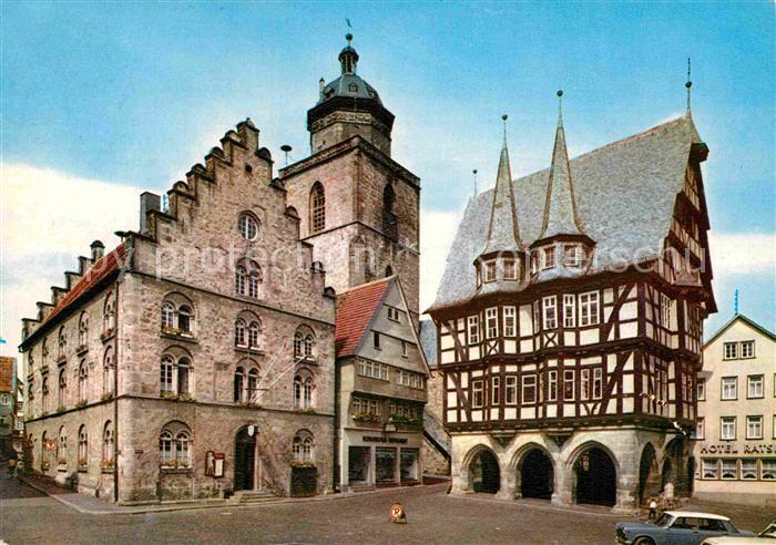 AK / Ansichtskarte Alsfeld Marktplatz mit Rathaus Kat. Alsfeld