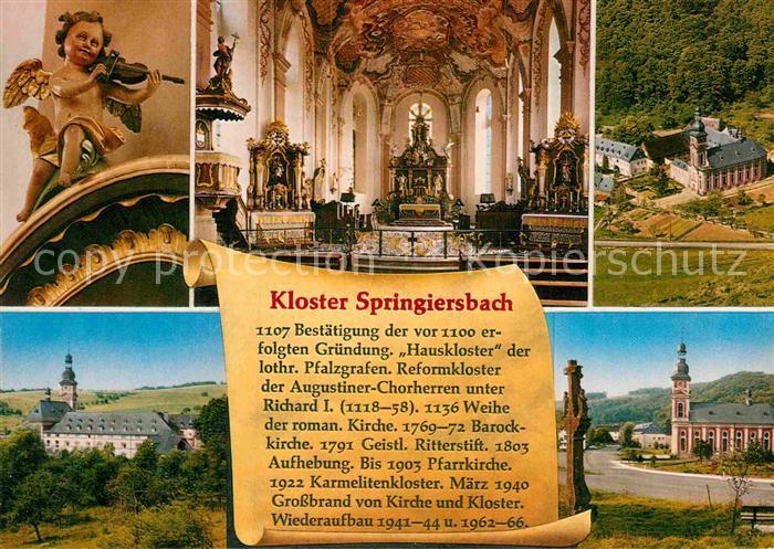 AK / Ansichtskarte Springiersbach Karmelitenkloster Springiersbach Inneres Fliegeraufnahme Kat. Bengel