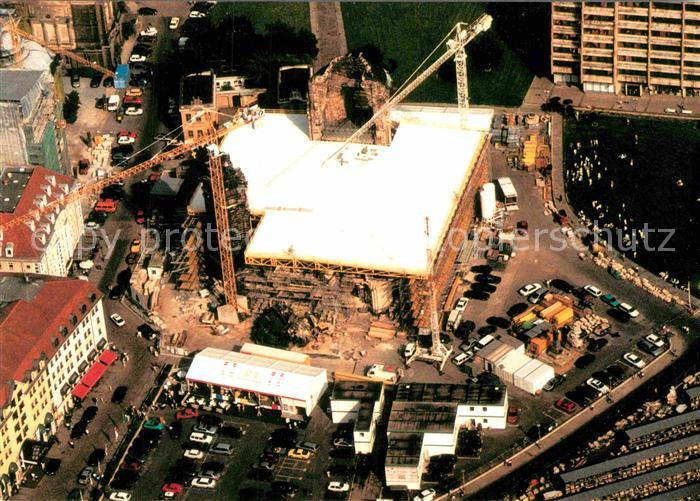AK / Ansichtskarte Dresden Frauenkirche nach Zerstoerung Fliegeraufnahme Kat. Dresden Elbe