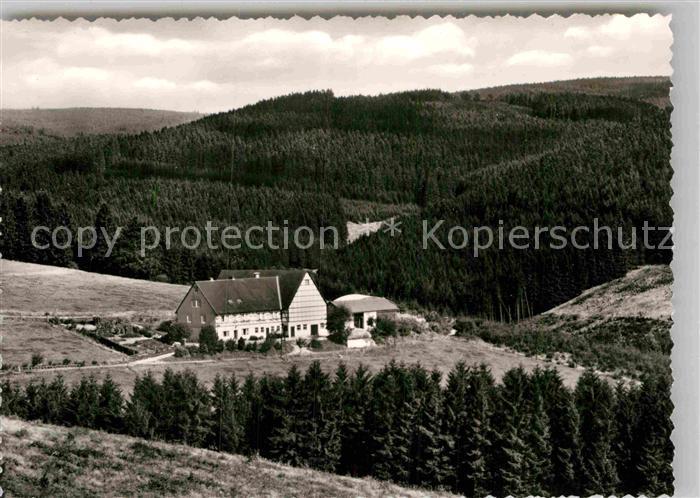 AK / Ansichtskarte Berleburg Bad Pension Hof Windbrache Kat. Bad Berleburg