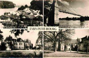 AK / Ansichtskarte Evry Yonne Petit Bourg Camping Passerelle Chateau de Mousseau Eglise Kat. Evry