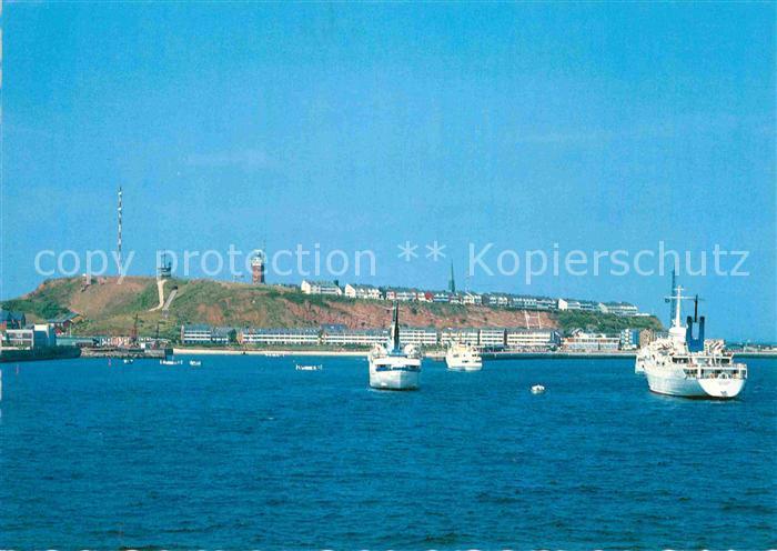 AK / Ansichtskarte Helgoland Schiffe auf Reede  Kat. Helgoland