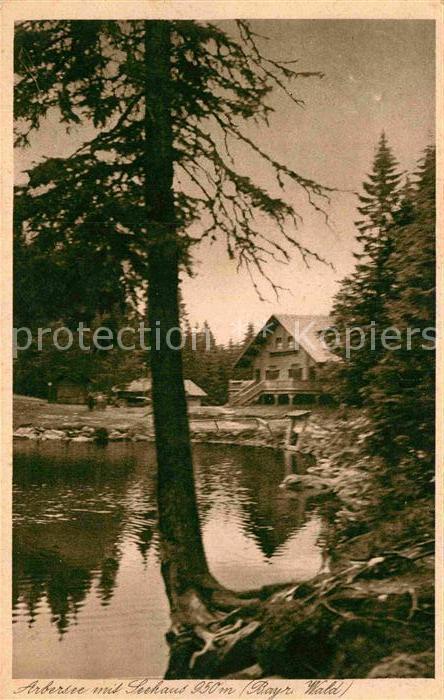 AK / Ansichtskarte Arbersee mit Seehaus Bayerischer Wald Kat. Bayerisch Eisenstein