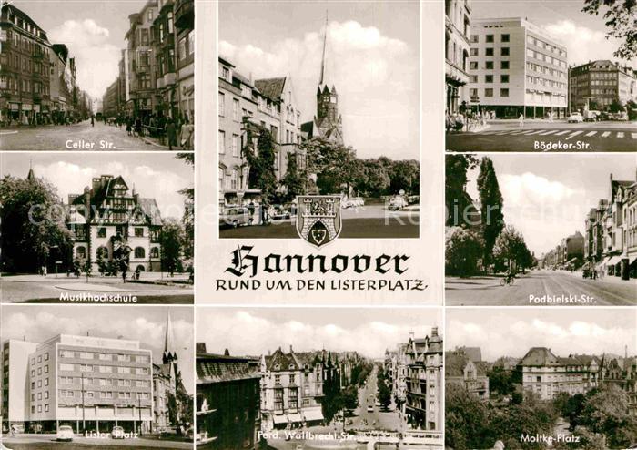 AK / Ansichtskarte Hannover Boedeker Strasse Celler Strasse Musikhochschule Podbielski Strasse  Kat. Hannover