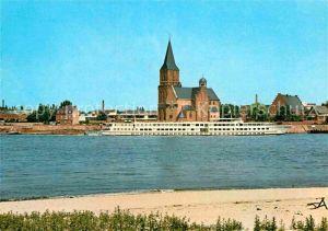 AK / Ansichtskarte Emmerich Rhein Rheinpartie mit Martinikirche Kat. Emmerich am Rhein