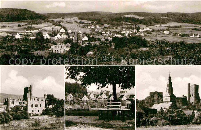 AK / Ansichtskarte Beilstein Westerwald Panorama Burgruine Kirche  Kat. Greifenstein
