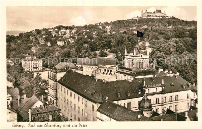 AK / Ansichtskarte Coburg Blick zur Ehrenburg und zur Veste Kat. Coburg