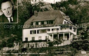 AK / Ansichtskarte Rhoendorf Wohnhaus Alt Bundeskanzler Dr Konrad Adenauer Portrait Kat. Bad Honnef