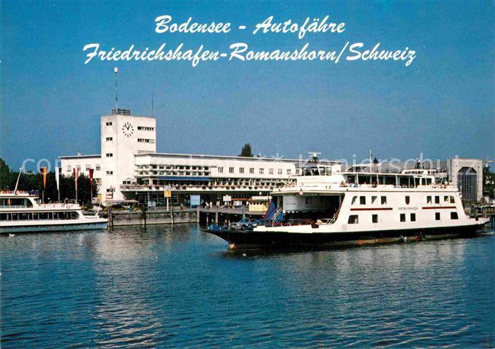 AK / Ansichtskarte Friedrichshafen Bodensee Autofaehre Friedrichshafen Kat. Friedrichshafen