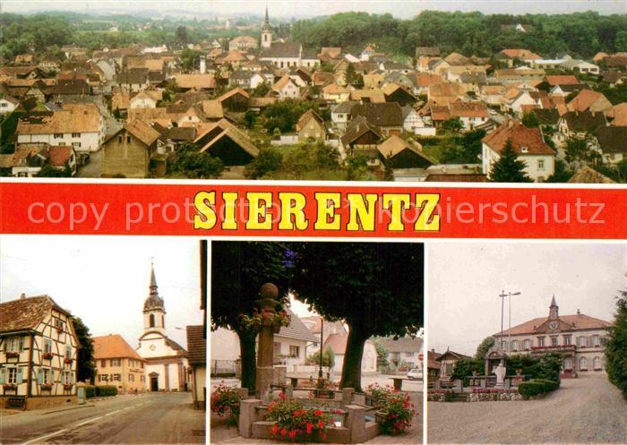 AK / Ansichtskarte Sierenz Place de laFontaine Kirche Saint Martin Place de la Mairie Kat. Sierentz