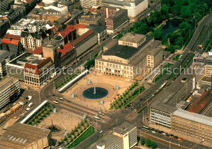 AK / Ansichtskarte Leipzig Augustusplatz mit Opernhaus Fliegeraufnahme Kat. Leipzig