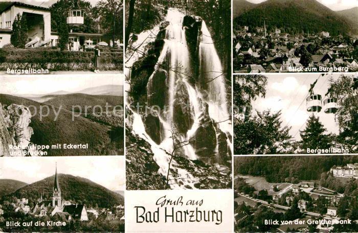AK / Ansichtskarte Bad Harzburg Brgseilbahn Rabenklippe Eckertal Kirche Brocken  Kat. Bad Harzburg