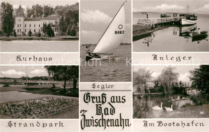 AK / Ansichtskarte Bad Zwischenahn Kurhaus Bootshafen Strandpark Anleger Segler  Kat. Bad Zwischenahn