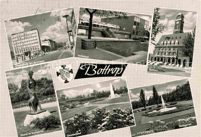 AK / Ansichtskarte Bottrop Rathaus Stadtgarten Hallenbad Kat. Bottrop