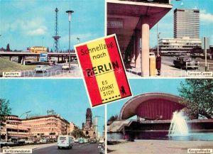 AK / Ansichtskarte Berlin Funkturm Europa Center Kongresshalle Kurfuerstendamm Kat. Berlin