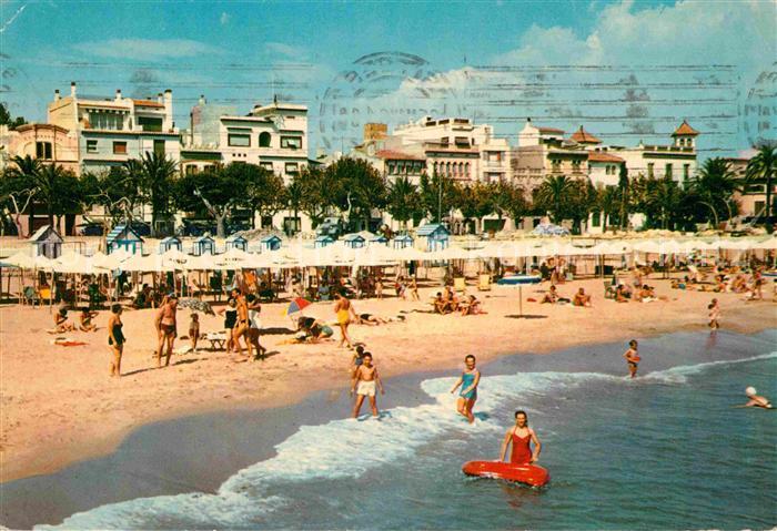 AK / Ansichtskarte Sitges Strand Hotels