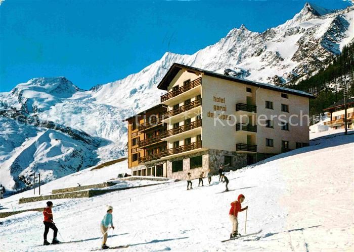 AK / Ansichtskarte Saas Fee Hotel Garni des Alpes Kat. Saas Fee