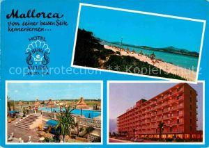 AK / Ansichtskarte Alcudia Mallorca Strand Hotel Bahia Pool Kat. Spanien