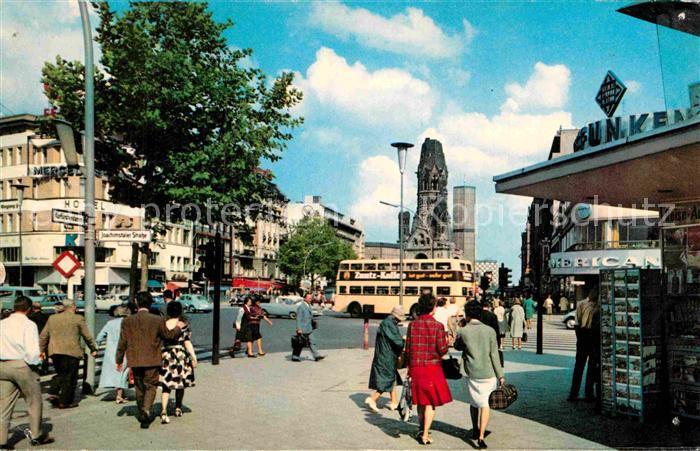 AK / Ansichtskarte Berlin Kurfuerstendamm Kaiser Wilhelm Gedaechtnis Kirche Kat. Berlin