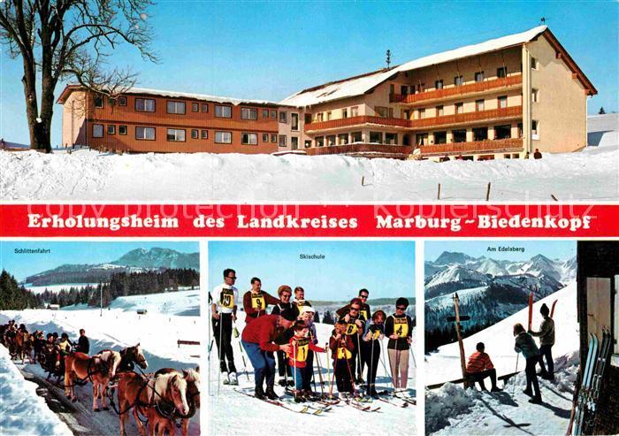 AK / Ansichtskarte Maria Rain Allgaeu Erholungsheim Marburg Biedenkopf Pferdeschlitten Skischule Edelsberg Kat. Mittelberg Oy