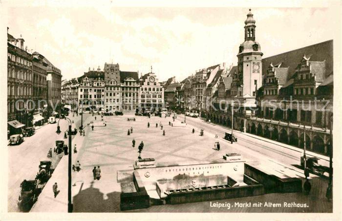AK / Ansichtskarte Leipzig Markt mit altem Rathaus Kat. Leipzig 0