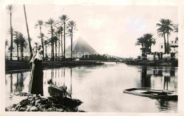 AK / Ansichtskarte Cairo Egypt Flood time near Pyramide Kat. Cairo 0