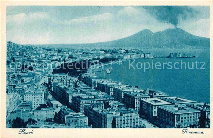 AK / Ansichtskarte Napoli Neapel Panorama Kueste Vulkan Vesuv Kat. Napoli 0