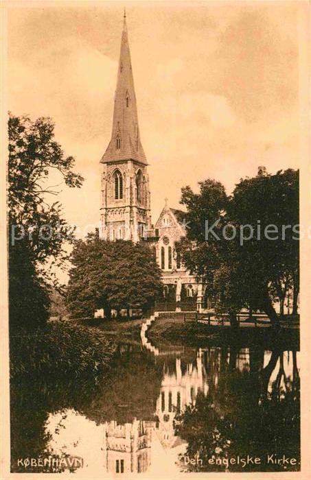AK / Ansichtskarte Kobenhavn Den engelske Kirke Kirche Stempel Hamburger Ruderverein Kat. Kopenhagen 0