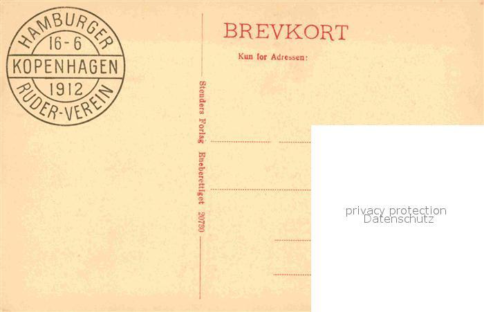AK / Ansichtskarte Kobenhavn Den engelske Kirke Kirche Stempel Hamburger Ruderverein Kat. Kopenhagen 1