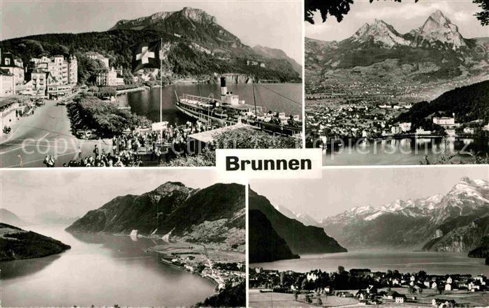 AK / Ansichtskarte Brunnen SZ Panorama Vierwaldstaettersee Alpen Kat. Brunnen 0