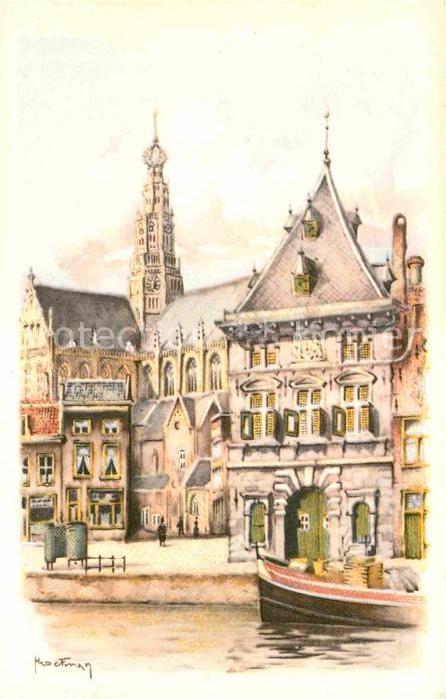AK / Ansichtskarte Haarlem de Waag Kuenstlerkarte Kat. Haarlem 0